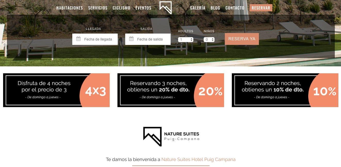 diseño-web-hotel-nature-suites-ofertas